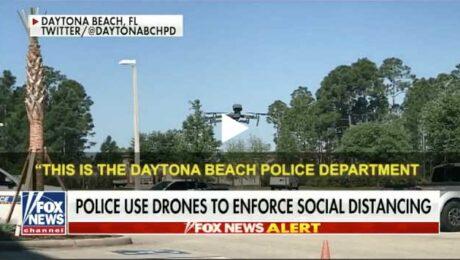 Daytona beach police department drone social distancing